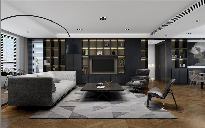 漫山香墅麓府175平米现代简约风格装修效果图