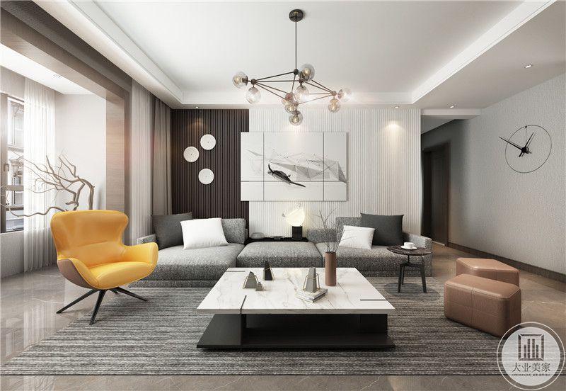 万达文旅城140平米现代风格装修效果图