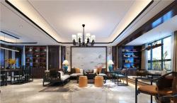 济南绿地·海珀天沅200平米新中式风格装修案例