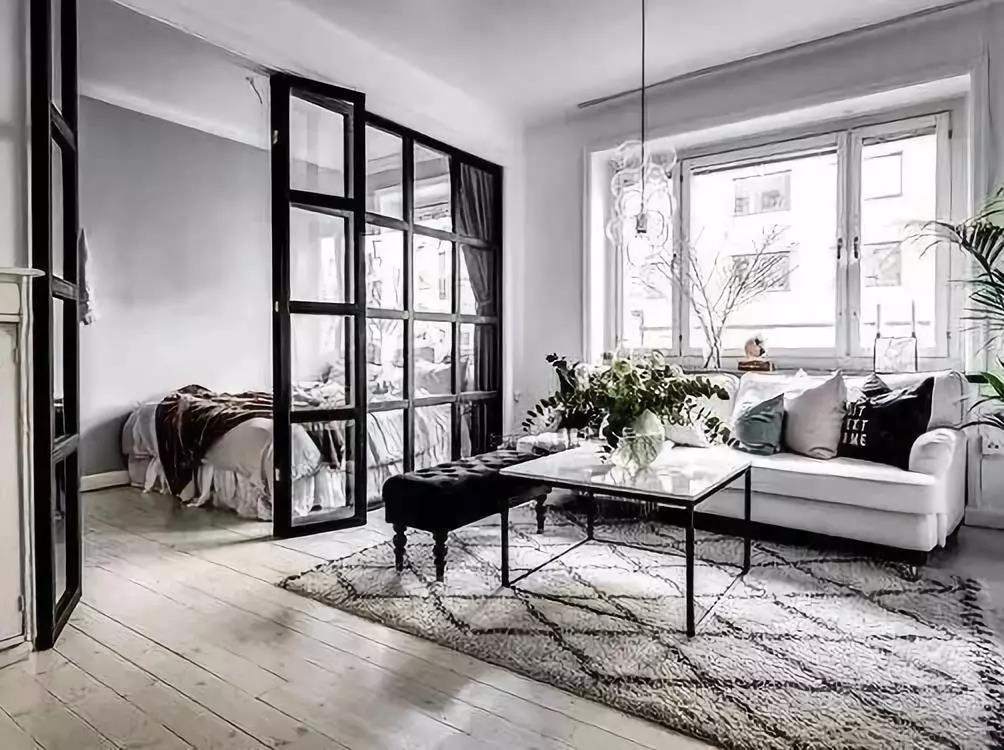 济南装修公司大业美家分享家装新潮流,黑框玻璃隔断!