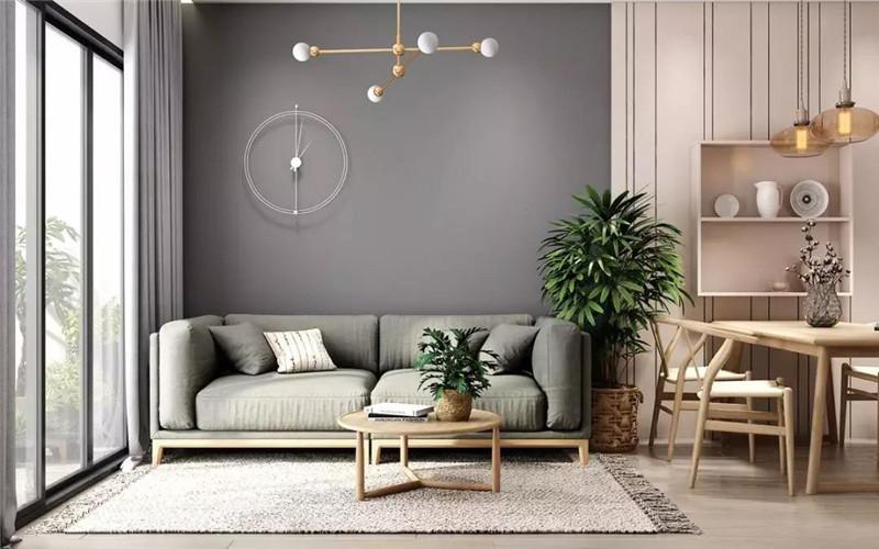 全屋大白墙已经过时,客厅用这4种颜色让墙面更高级!