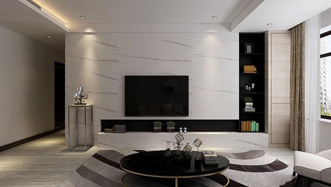 财富中心130平米现代简约风格装修效果图