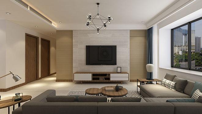 名悦山庄120平米新中式风格装修效果图