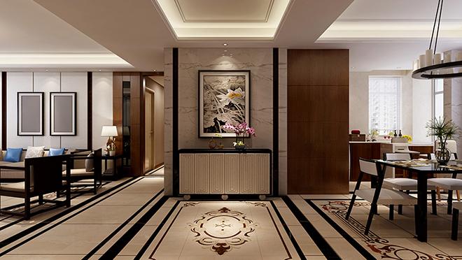 名悦山庄214平米中式风格装修效果图