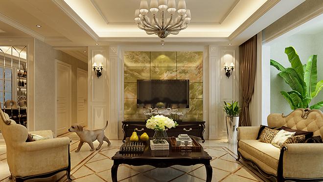 华润城紫云府160平米欧式古典风格装修效果图
