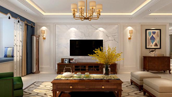 财富中心190平米美式风格装修效果图